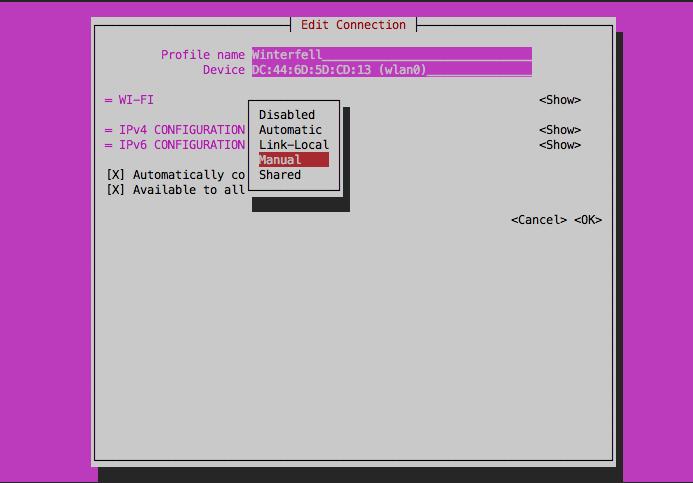 Устновка статического IP адреса на Orange Pi